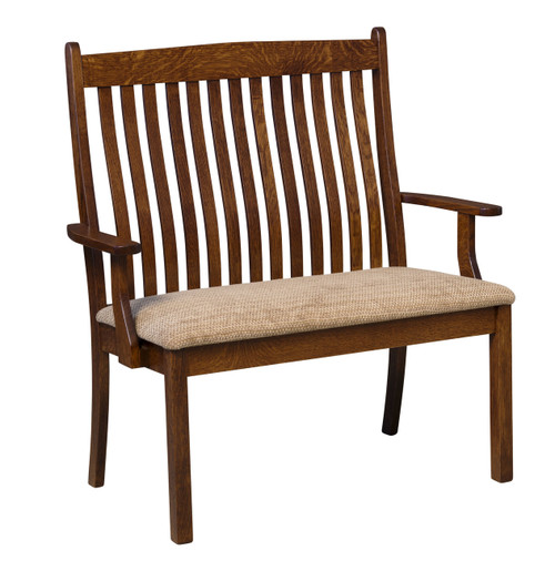 Liberty Deacon Bench - shown with Fabric Seat