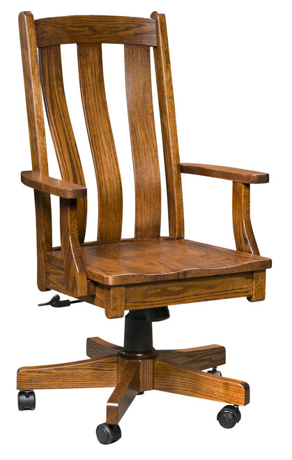 Vancouver Desk Chair - shown in Oak with Like Walnut Stain