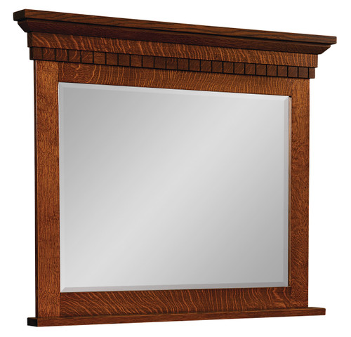 Whitaker Home Mirror - shown in Quarter Sawn Oak with Golden Brown Stain