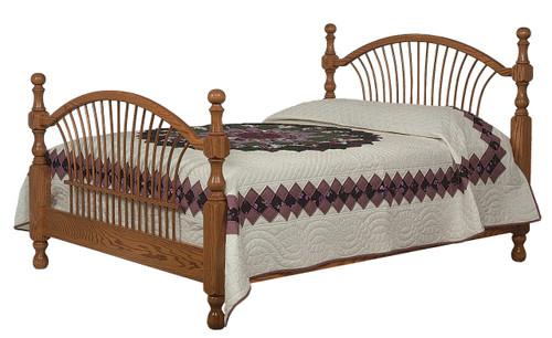 Bow Sheaf Bed - shown in Oak