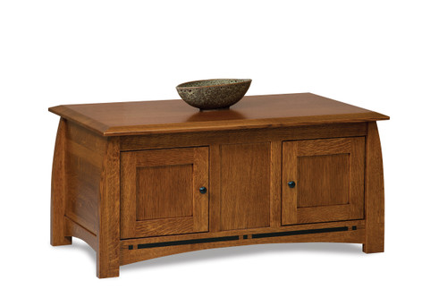 Boulder Creek Enclosed Coffee Table with Doors