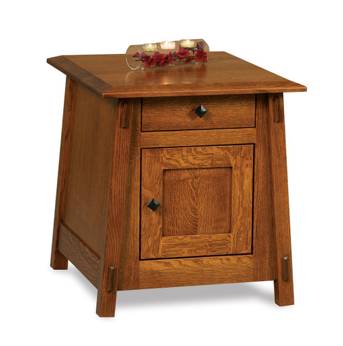 Colbran Enclosed End Table with Drawer & Door