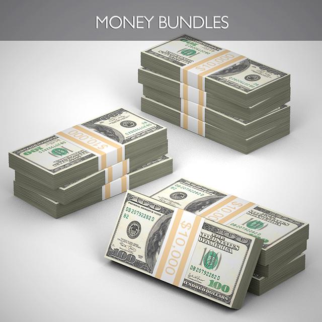C4Depot 3D Model Collection for Cinema 4D: Money Mega Pack - additional image 3