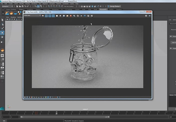 Chaos Group Phoenix FD 4 for Maya Workstation - Perpetual - additional image 1