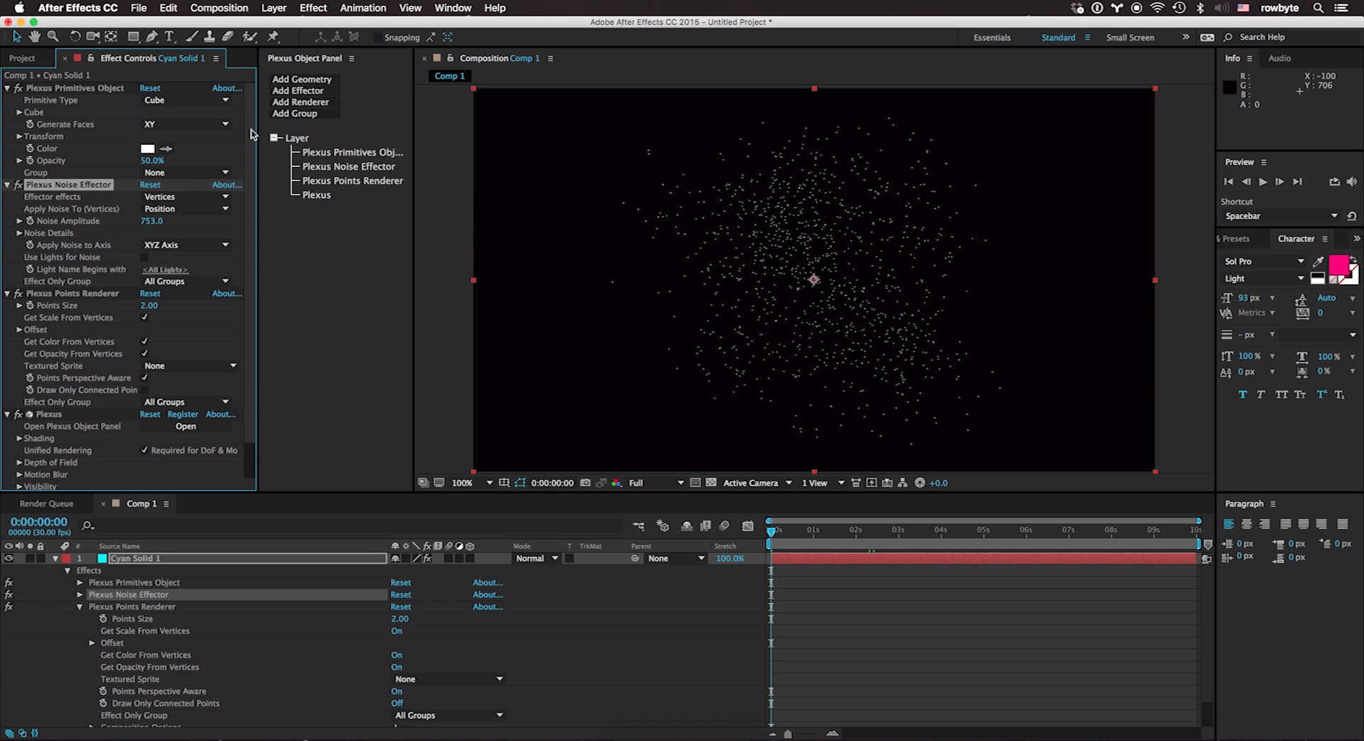 Rowbyte Plexus for Adobe After Effects v3.x (Floating Server License) - additional image 1