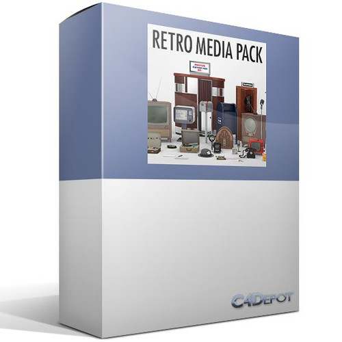 C4Depot 3D Model Collection for Cinema 4D: Retro Media Collection - Image 1