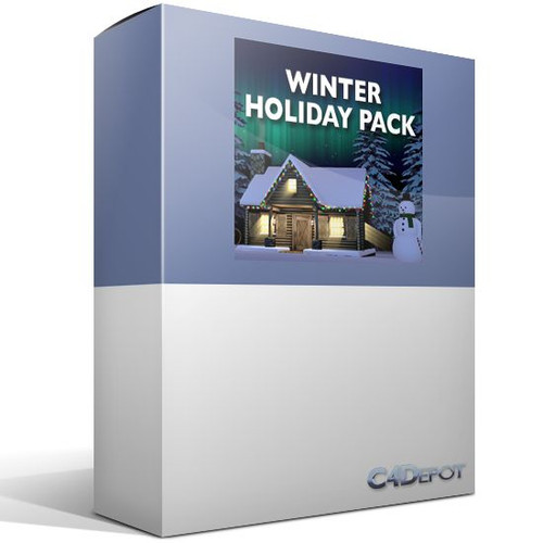 C4Depot 3D Model Collection for Cinema 4D: Winter Holiday Pack - Image 1