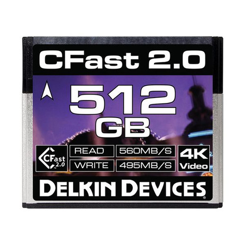 Delkin Devices CFast 2.0 Memory Card 512GB - Image 1