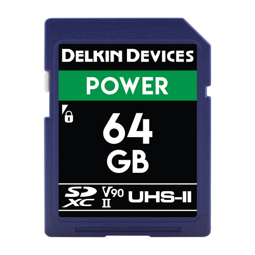 Delkin Devices SD Power UHS-II V90 Memory Card 64GB - Image 1