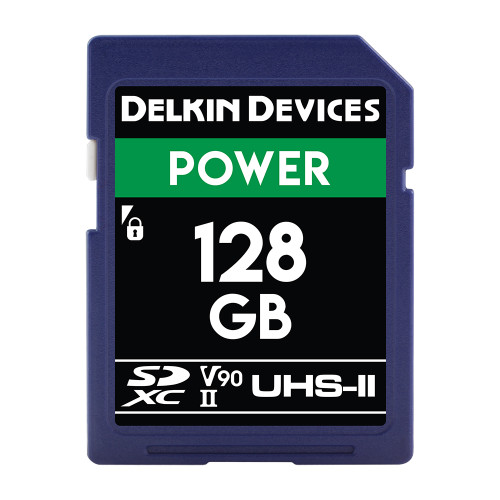 Delkin Devices SD Power UHS-II V90 Memory Card 128GB - Image 1