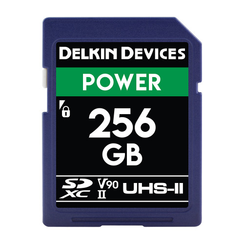 Delkin Devices SD Power UHS-II V90 Memory Card 256GB - Image 1