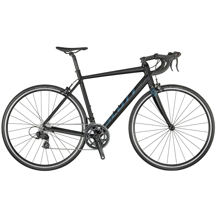 The SCOTT Speedster is light, agile and cost efficient. The Speedster 50 features a Shimano groupset and Syncros components. You'll be upping your velocity in no time!