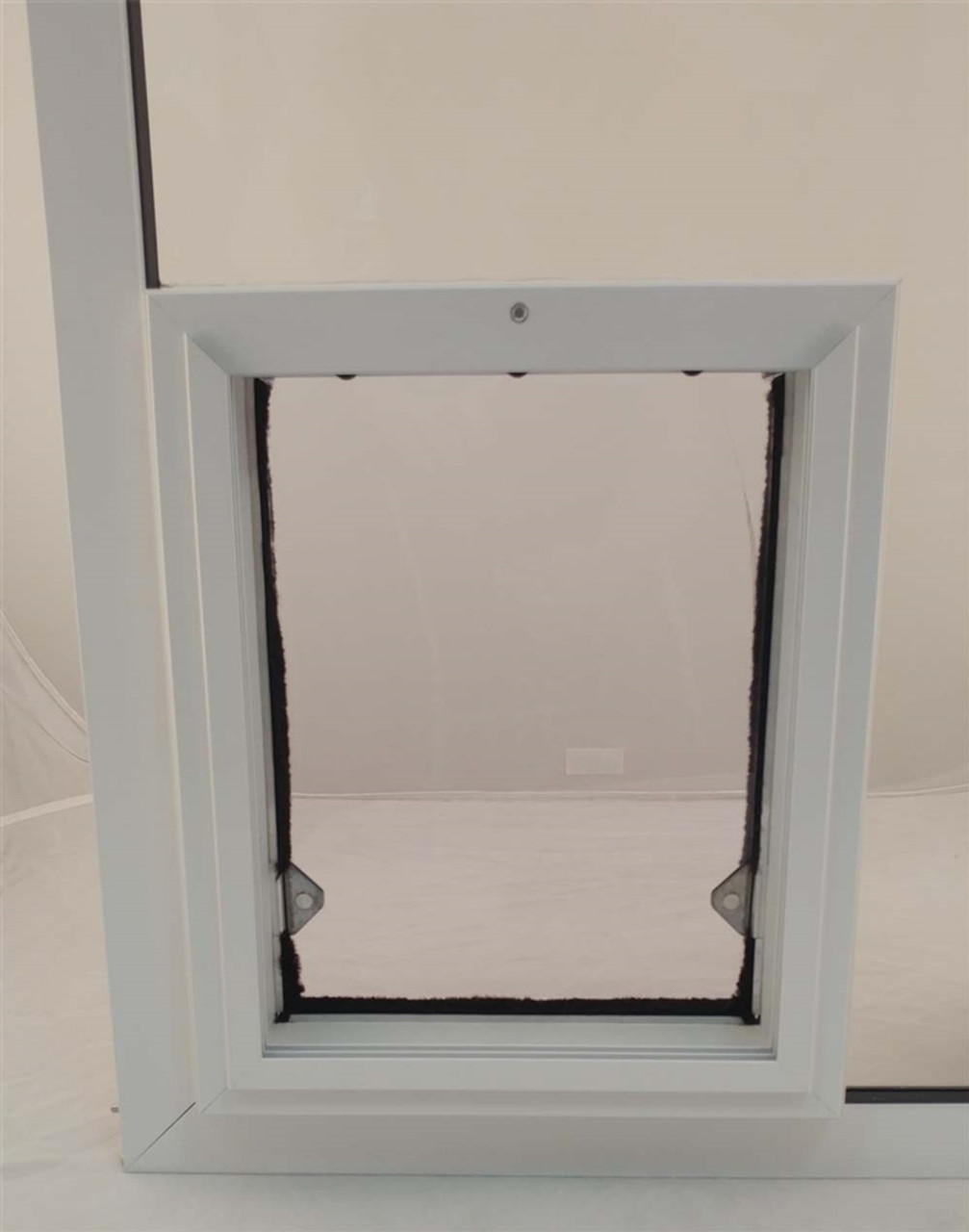 Sb Standard In Glass Pet Door From Security Boss Manufacturing Specially Designed For Installation Into Glass Low Profile Exterior Frame Allow For Full Use Of Sliding Glass Doors High Quality