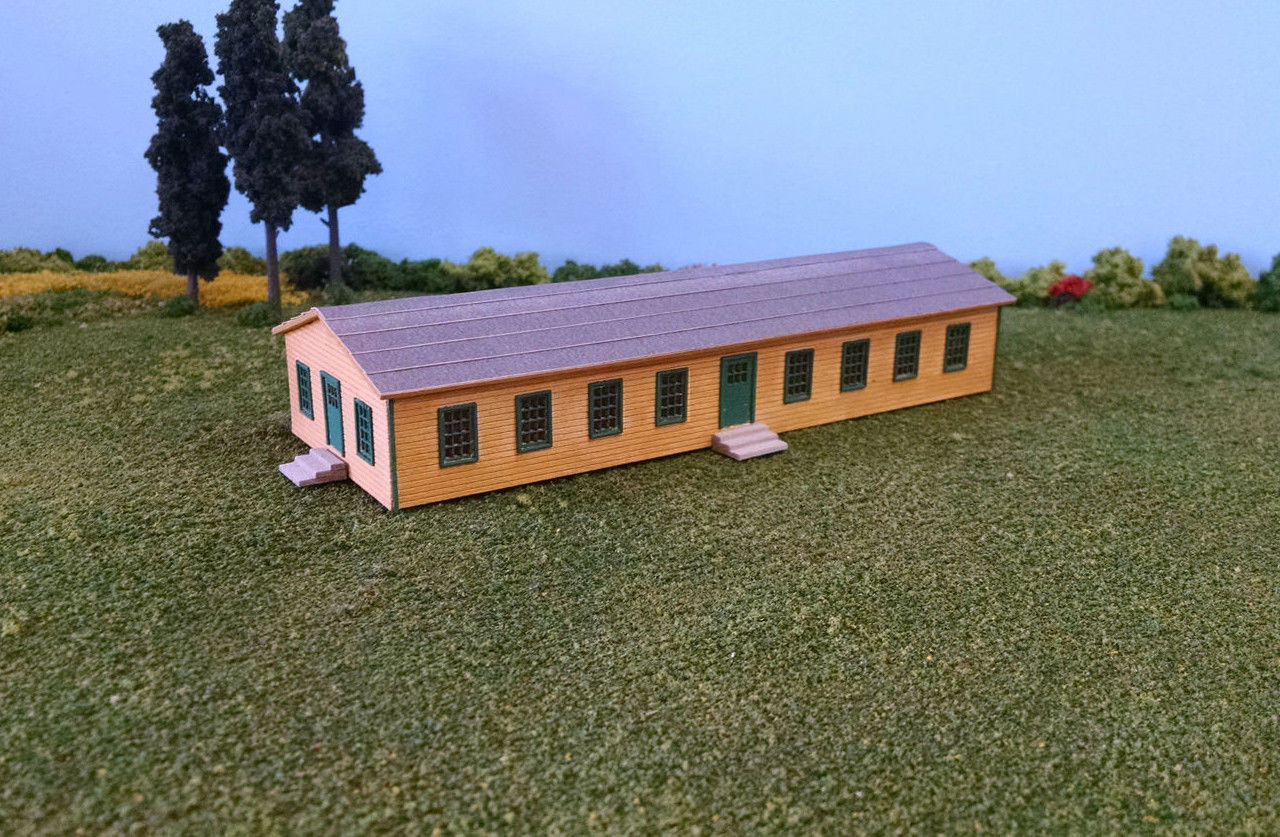 Train Time Laser N Scale Laser Cut Army Barracks Building Kit