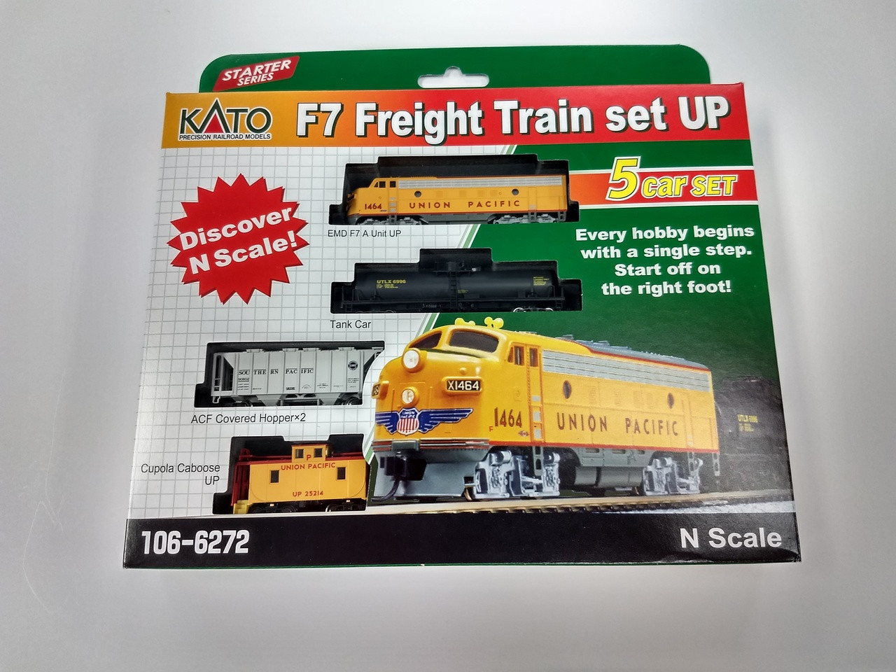 Kato N Scale EMD F7 Union Pacific Freight Train Set