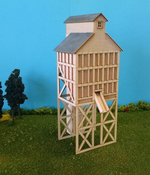 Train Time Laser HO Scale Laser Cut Coaling Tower Kit