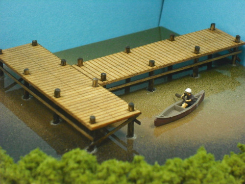 Train Time Laser N Scale Boat Dock Pier Kit