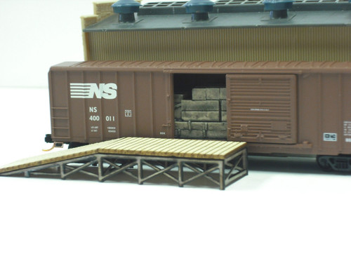 Train Time Laser N Scale Loading Dock Kit