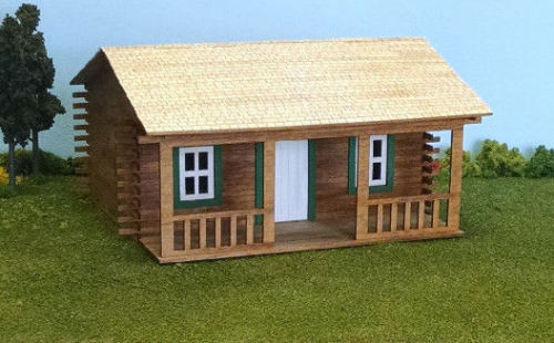 Train Time Laser O Scale Log Cabin Kit