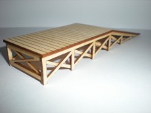 "Train Time Laser O Scale Loading Ramp Kit (2 3/4 x 8 x 1 1/4"")"