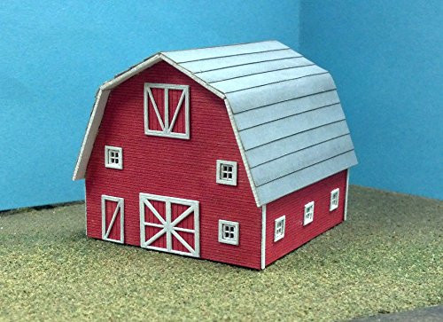 Train Time Laser N Scale Barn Kit