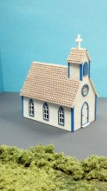 Train Time Laser N Scale Church Kit