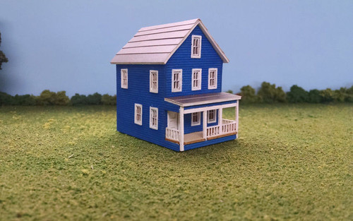 Train Time Laser HO Scale 20th Avenue Two Story House Building Kit