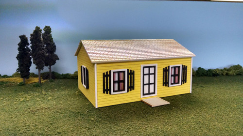 Train Time Laser HO Scale Stevens House Building Kit
