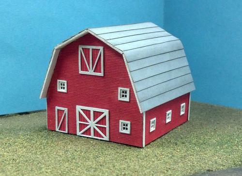 Train Time Laser HO Scale Barn Kit