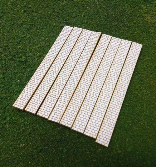 Train Time Laser HO Scale Laser Cut Cobblestone Sidewalks - 240 Scale Feet