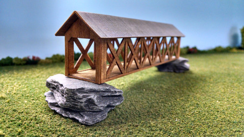 Train Time Laser HO Scale Laser Cut Covered Bridge Kit