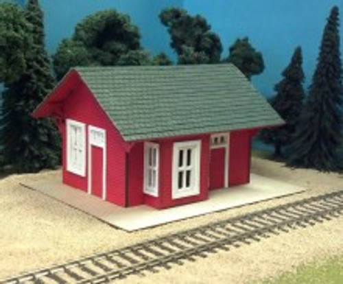 Train Time Laser HO Scale Bartlett Depot Kit