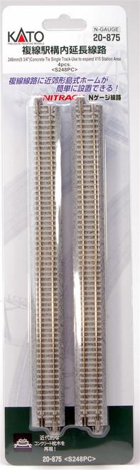 "Kato N 9-3/4"" Trk Straight,Concrete Tie V15 Expander(4) - 20875"