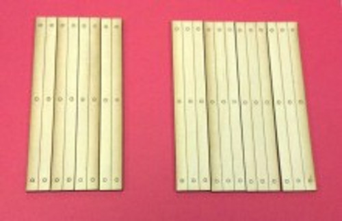 Train Time Laser O Scale Single Lane Timber Crossing 2-Pack