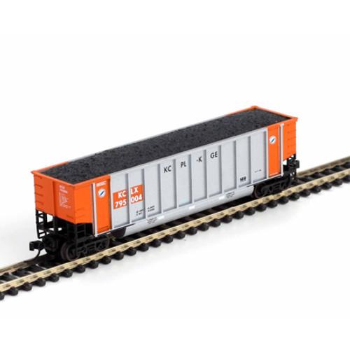 Athearn N Scale Bethgon Coalporter w/Load, KCLX #3 (5) - 11661