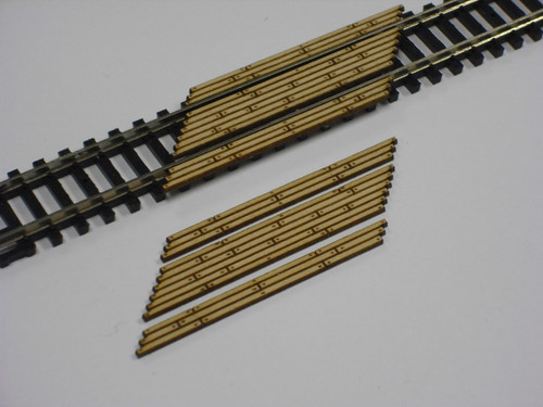 Train Time Laser N Scale Double Lane Timber Right Angled Crossing 2-Pack