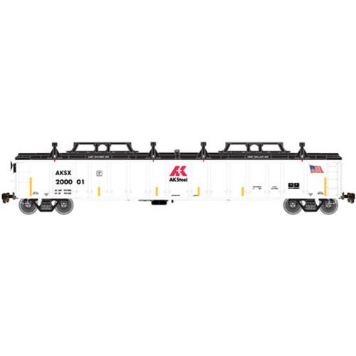 Atlas HO Scale Thrall 2743 Gondola w/Cover, AK Steel #200027