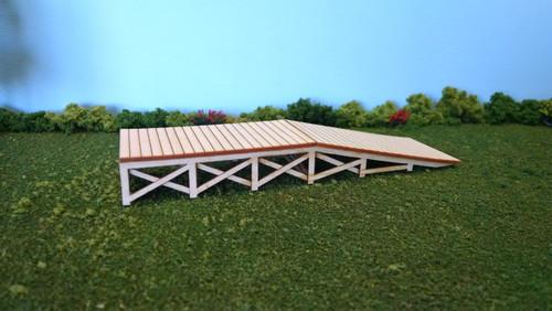 "Train Time Laser HO Scale Loading Dock Ramp Kit (5 1/2 x 1 1/2 x 3/4"")"