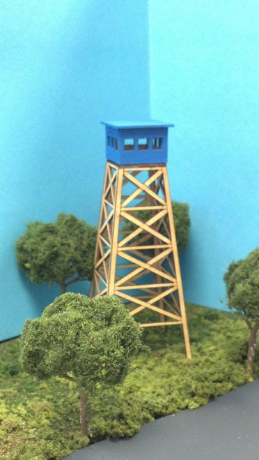 Train Time Laser HO Scale Forest Fire Lookout Kit