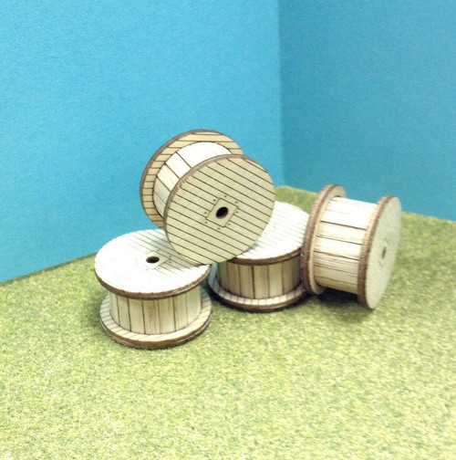Train Time Laser HO Scale Cable Reels Kit (4 Pack)