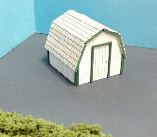 Train Time Laser HO Scale Backyard Shed Kit