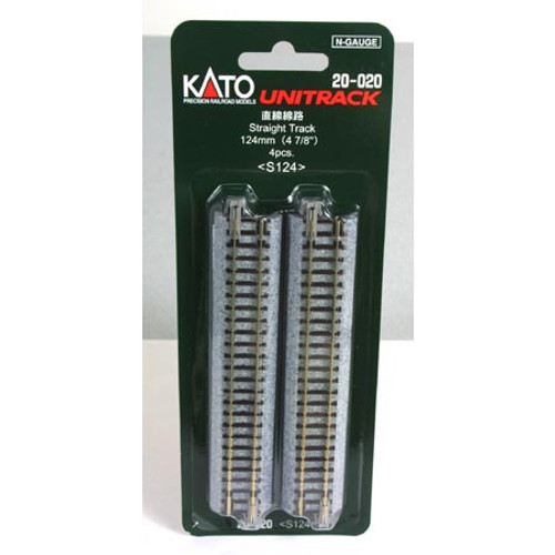 "Kato N 124mm 4-7/8"" Straight (4) - 20020"