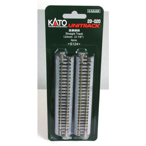 "Kato N 124mm 4-7/8"" Straight (4) - 20020"