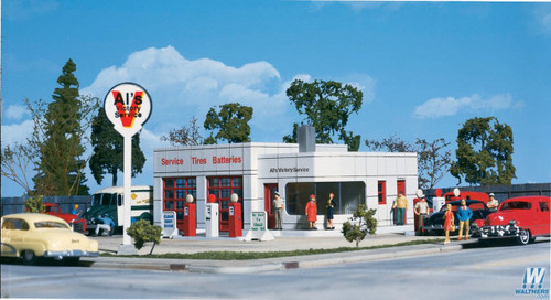 Walthers HO Scale Cornerstone Al's Victory Service Station Kit - 933-3072