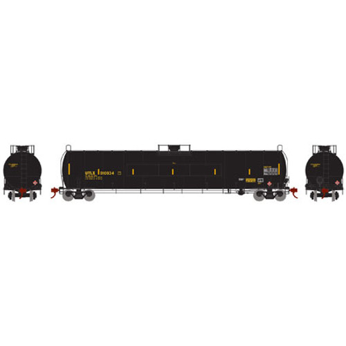 Athearn N Scale 33,900-Gallon LPG Tank/Flat Panel, UTLX #910934 - 24586