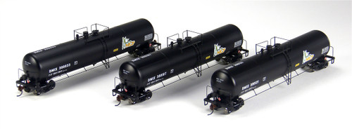 Athearn N Scale DMIX 30K Gallon Ethanol Tank Car, MCP #2 (3-Pack) - 24359