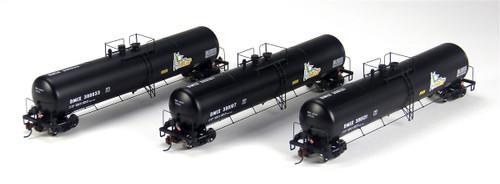 Athearn N Scale DMIX 30K Gallon Ethanol Tank Car, MCP #2 (3-Pack) - 24359