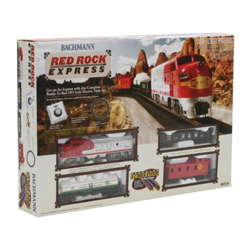 Bachmann HO Scale Red Rock Express Train Set - Santa Fe, #00678