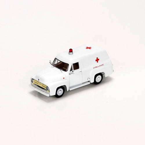Athearn HO Scale 1955 Ford F-100 Panel Truck, Ambulance - 27687