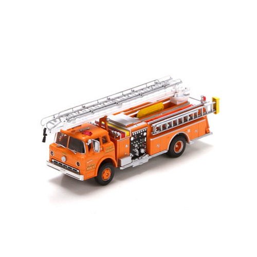 Athearn HO Scale Ford C Telesqurt, County Fire/Orange #21 - 91854